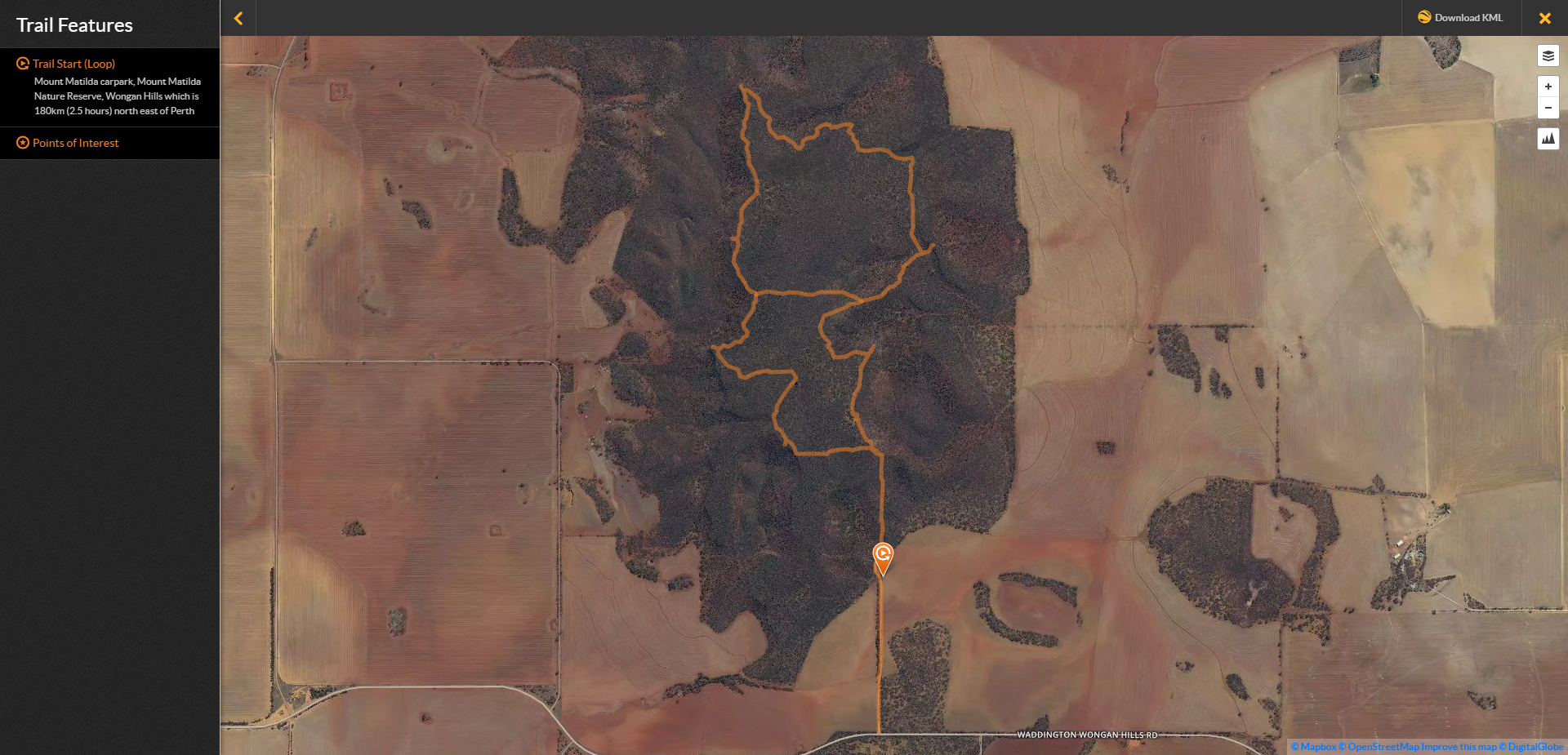Mt Matilda Walk Trail Map